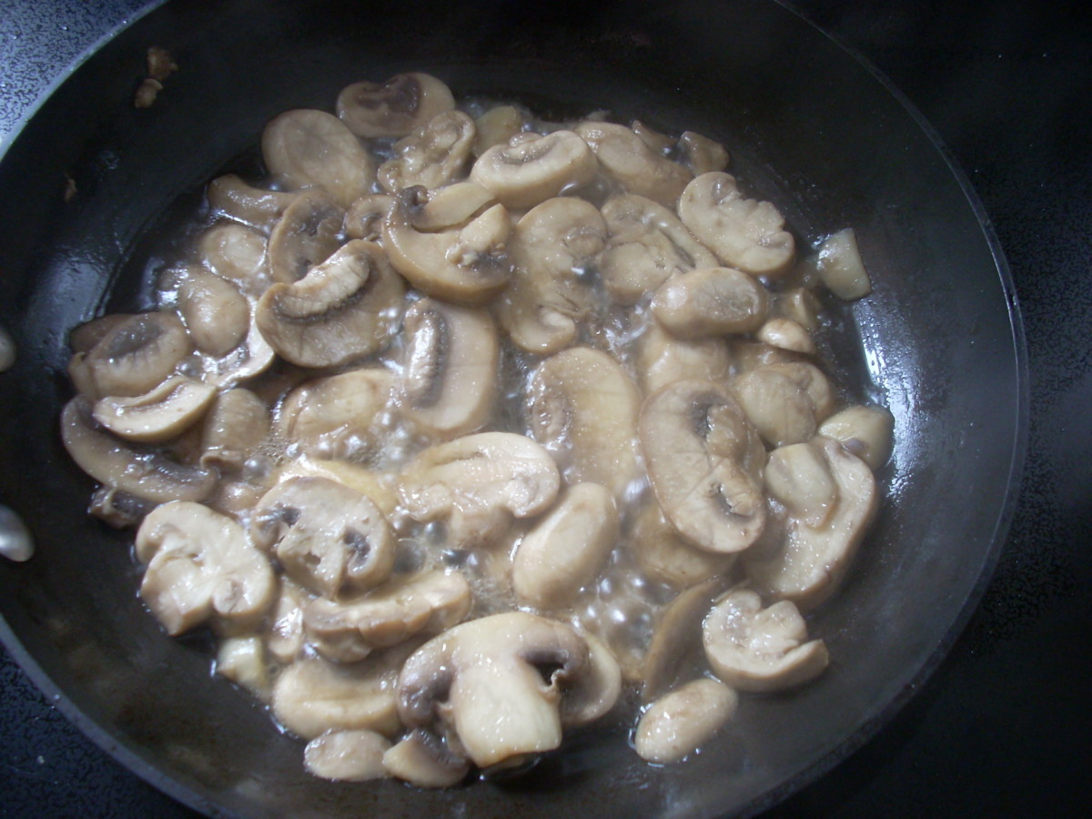 Saute' Mushrooms