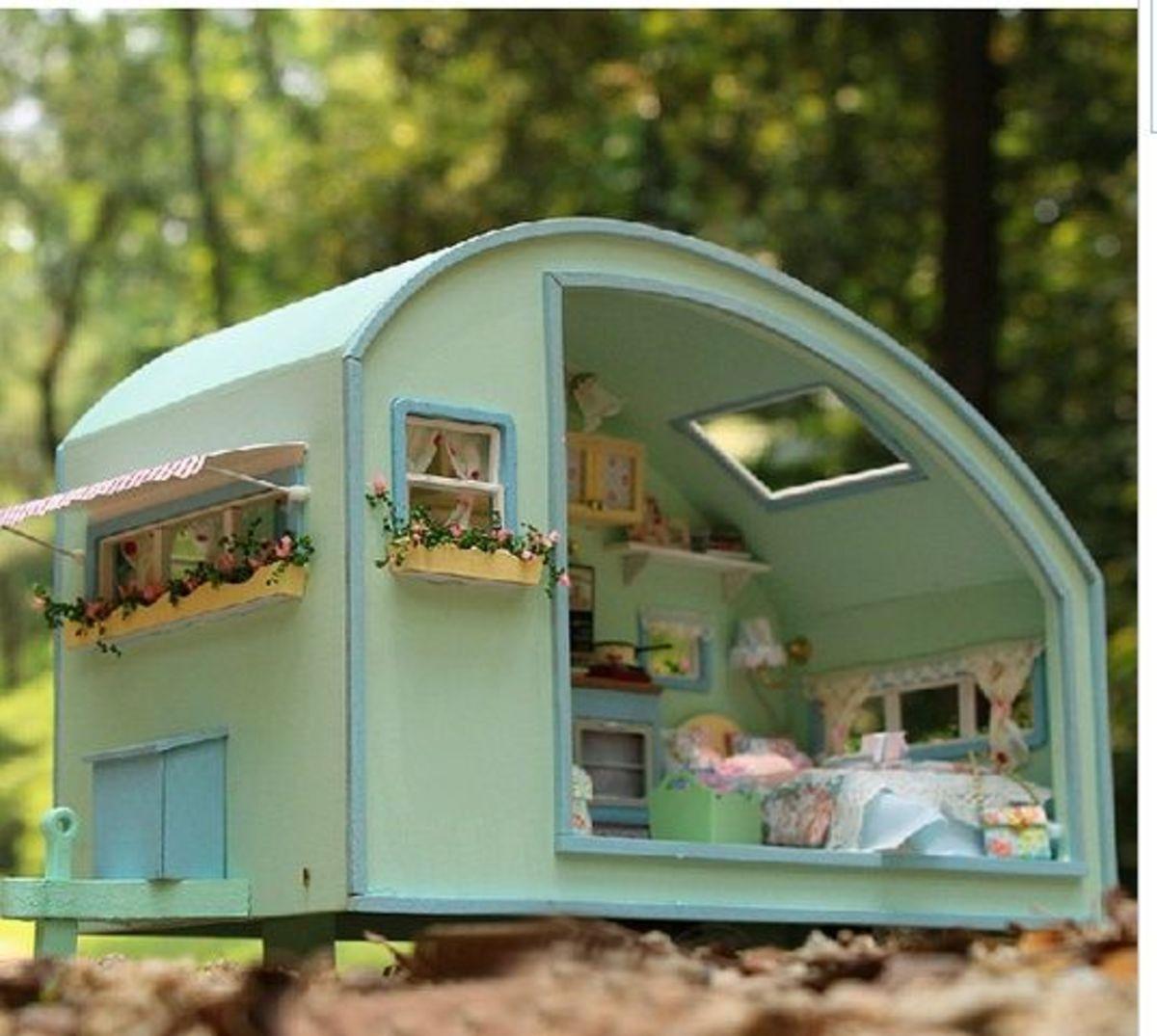 diy dollhouse caravan miniatures