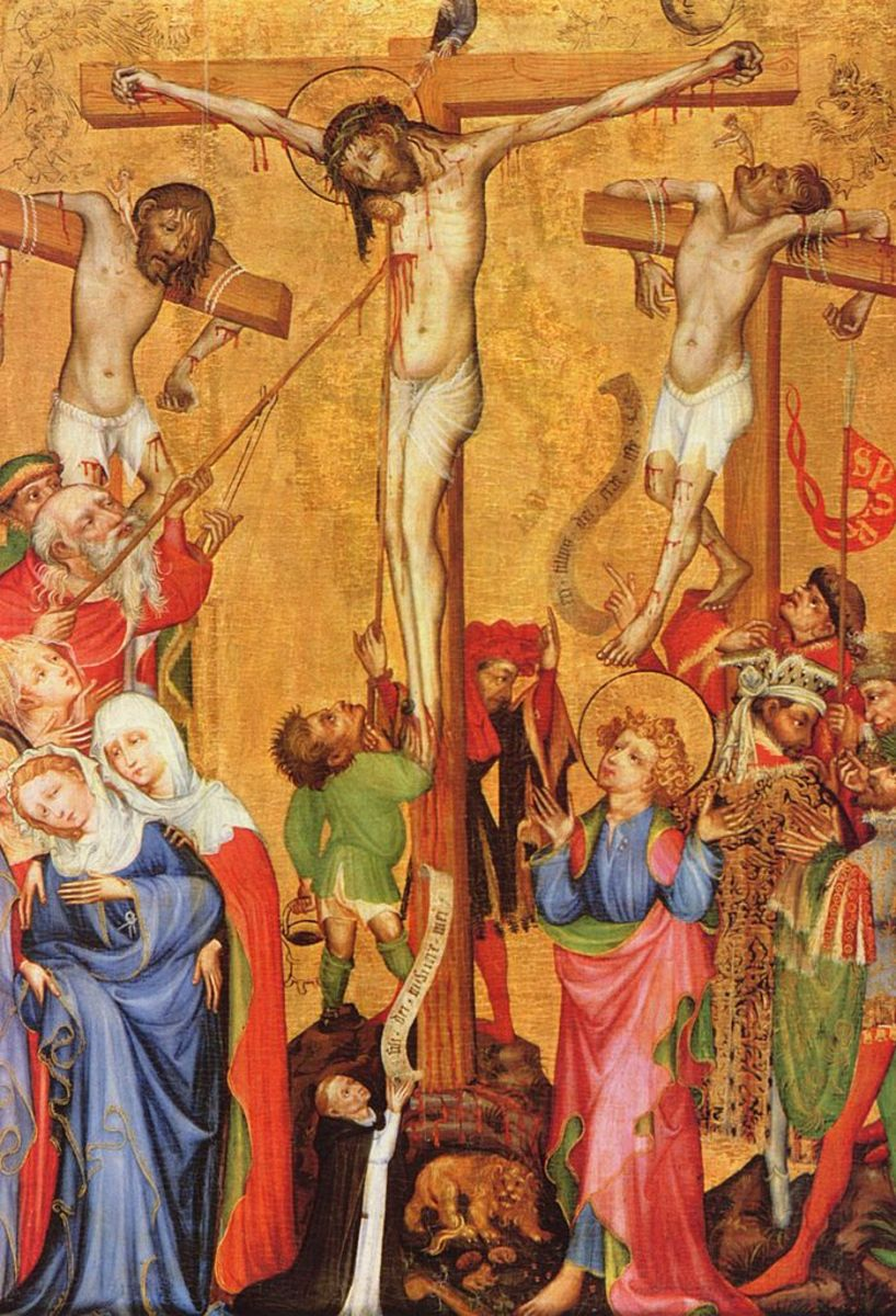 According to legend, the Holy Lance is the spear that was used to pierce Jesus Christ at his crucifixtion.