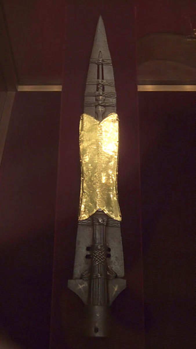 The modern day Spear of Destiny in a museum in Austria.