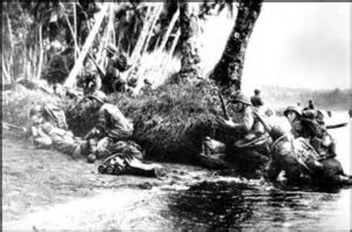 Photo reportedly taken during the Guadalcanal campaign.