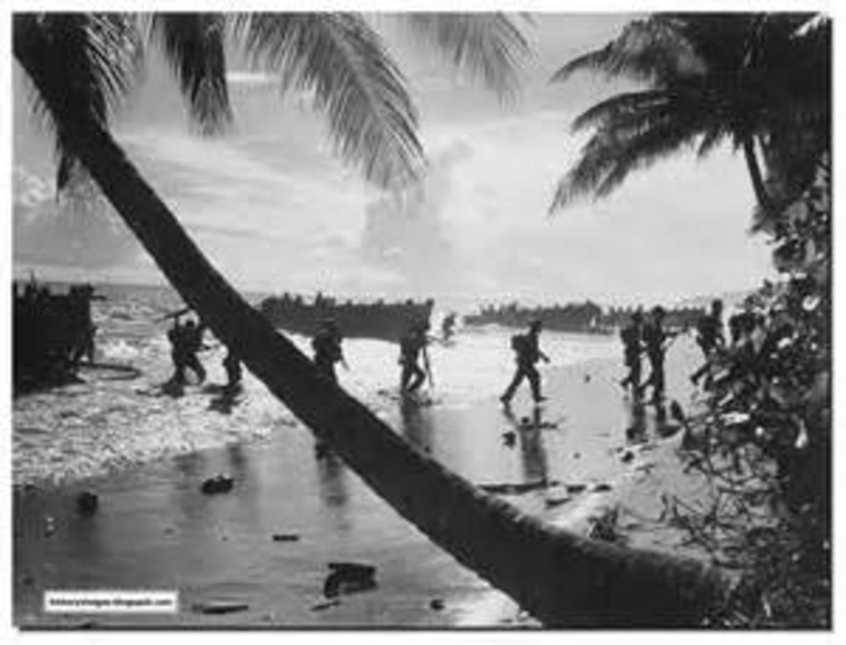 U.S. troops continue to come ashore at Guadalcanal.