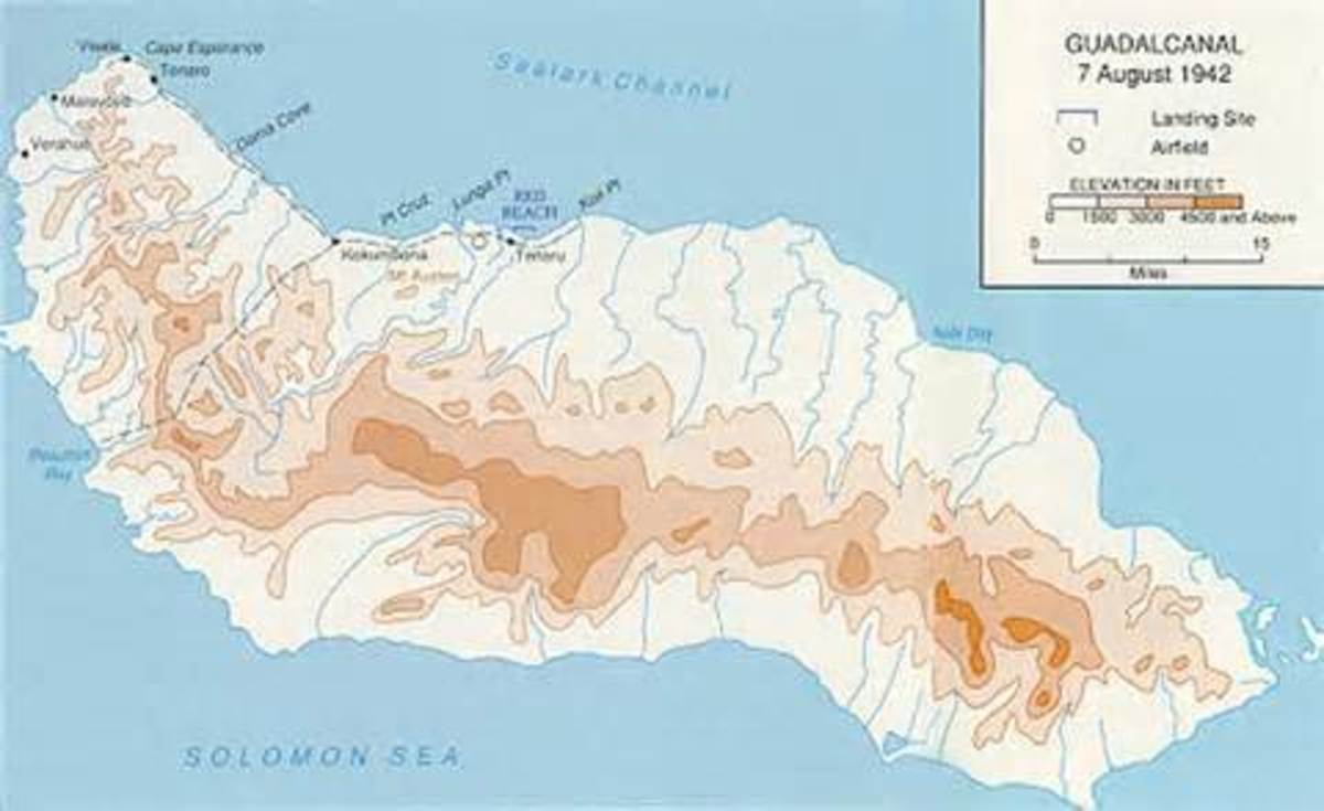 Guadalcanal - 7 August 1942 The Marines came ashore at Lunga Point
