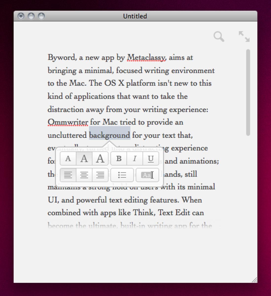 Byword on Mac