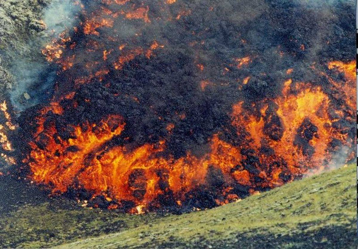 Photos taken in 1973 by Knud Bach Madsen from Vanløse, Denmark, of the eruptions on Heimaey, Iceland.