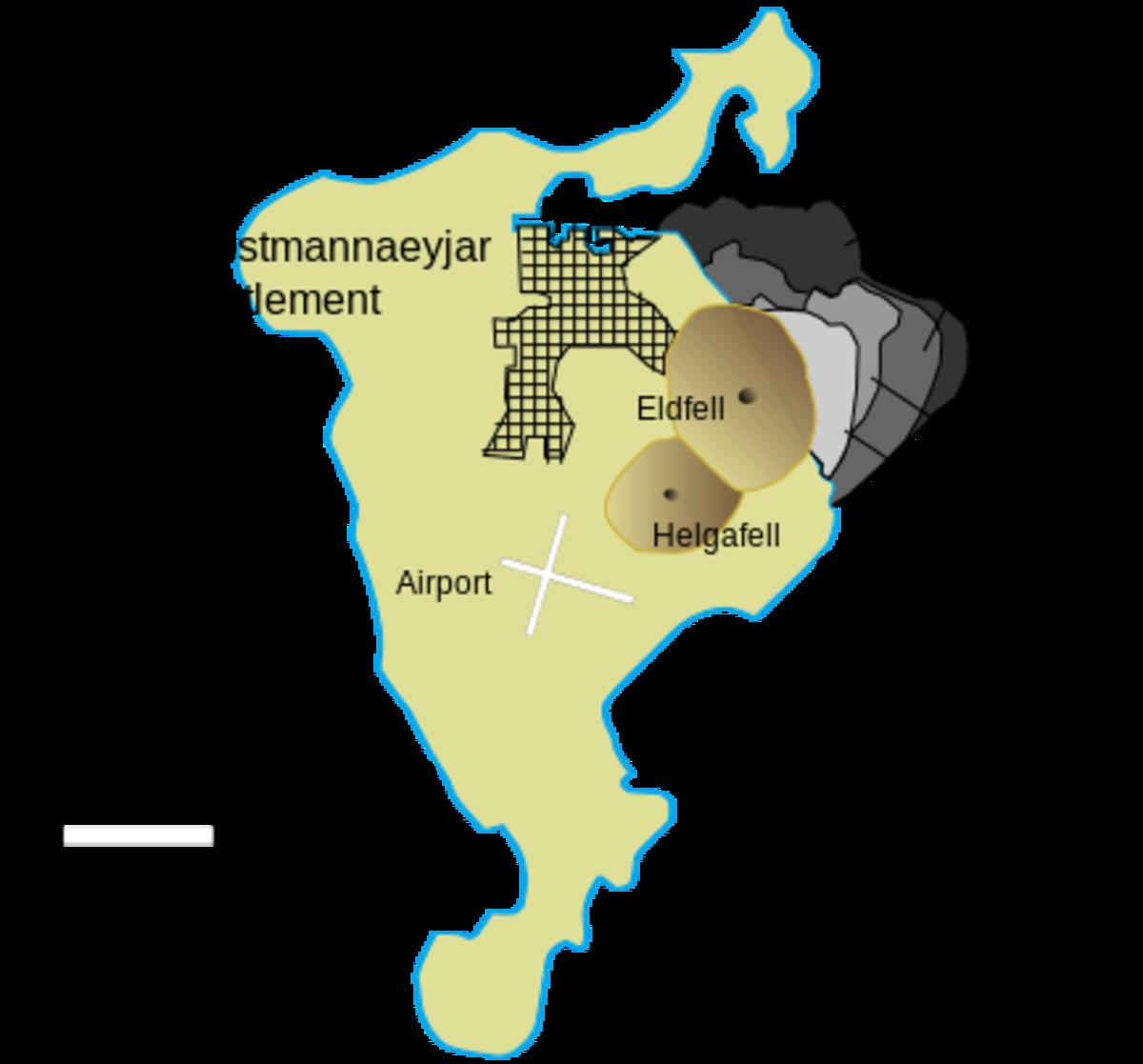 """The development of the coastline on Heimaey during the eruption of Eldfell 1973"""