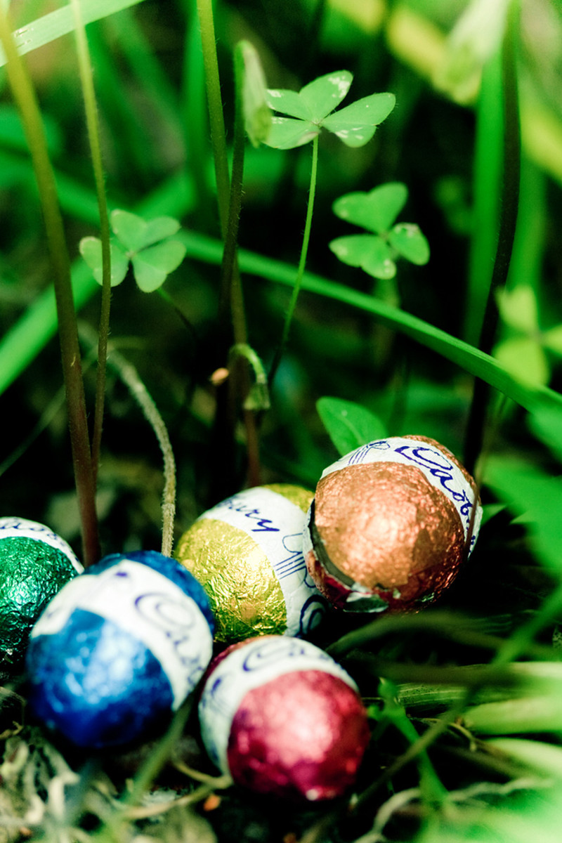 Easter Egg hunts are common in the springtime.