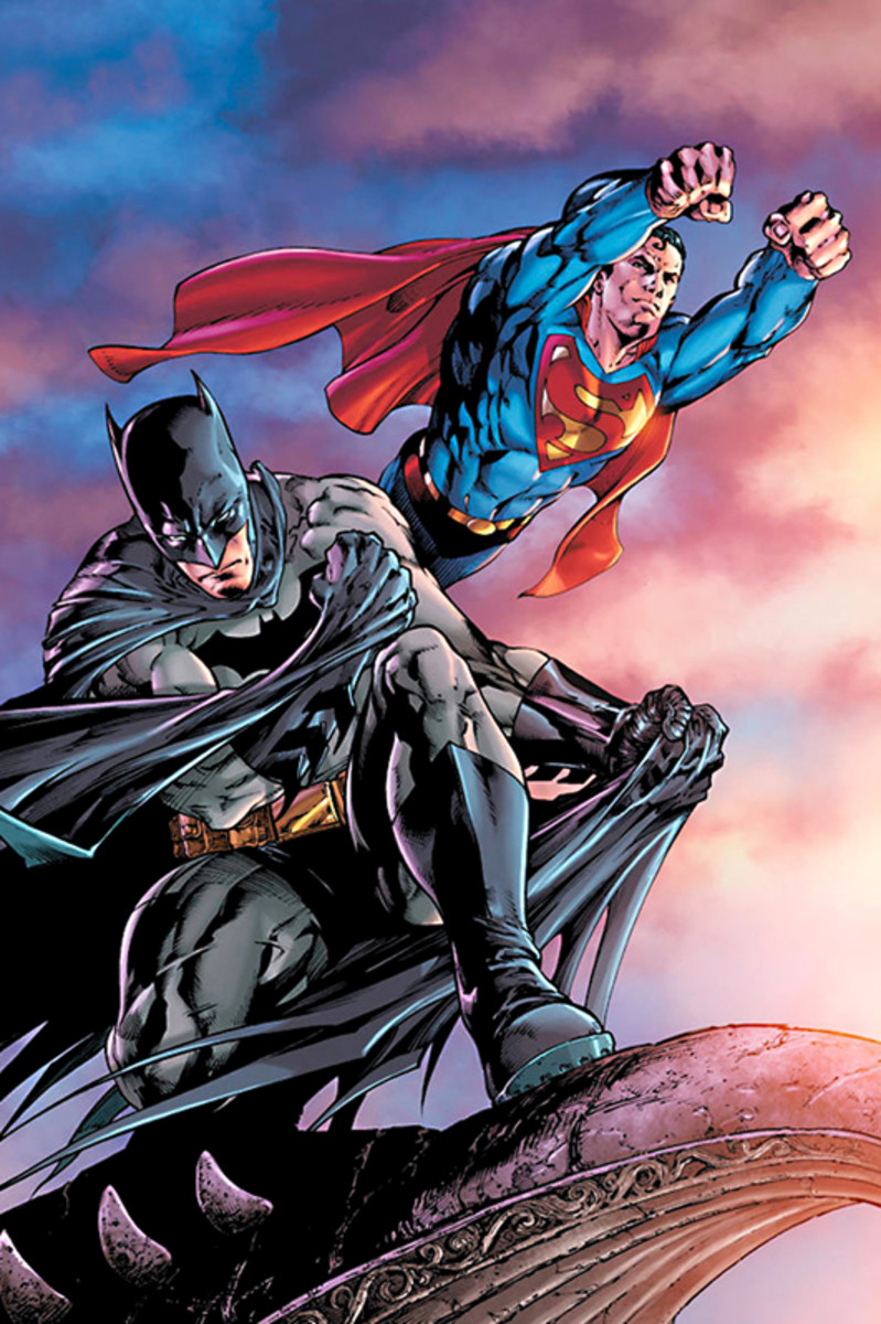 A fundamental difference - Superman flies through the air faster than a speeding bullet while Batman stands on something