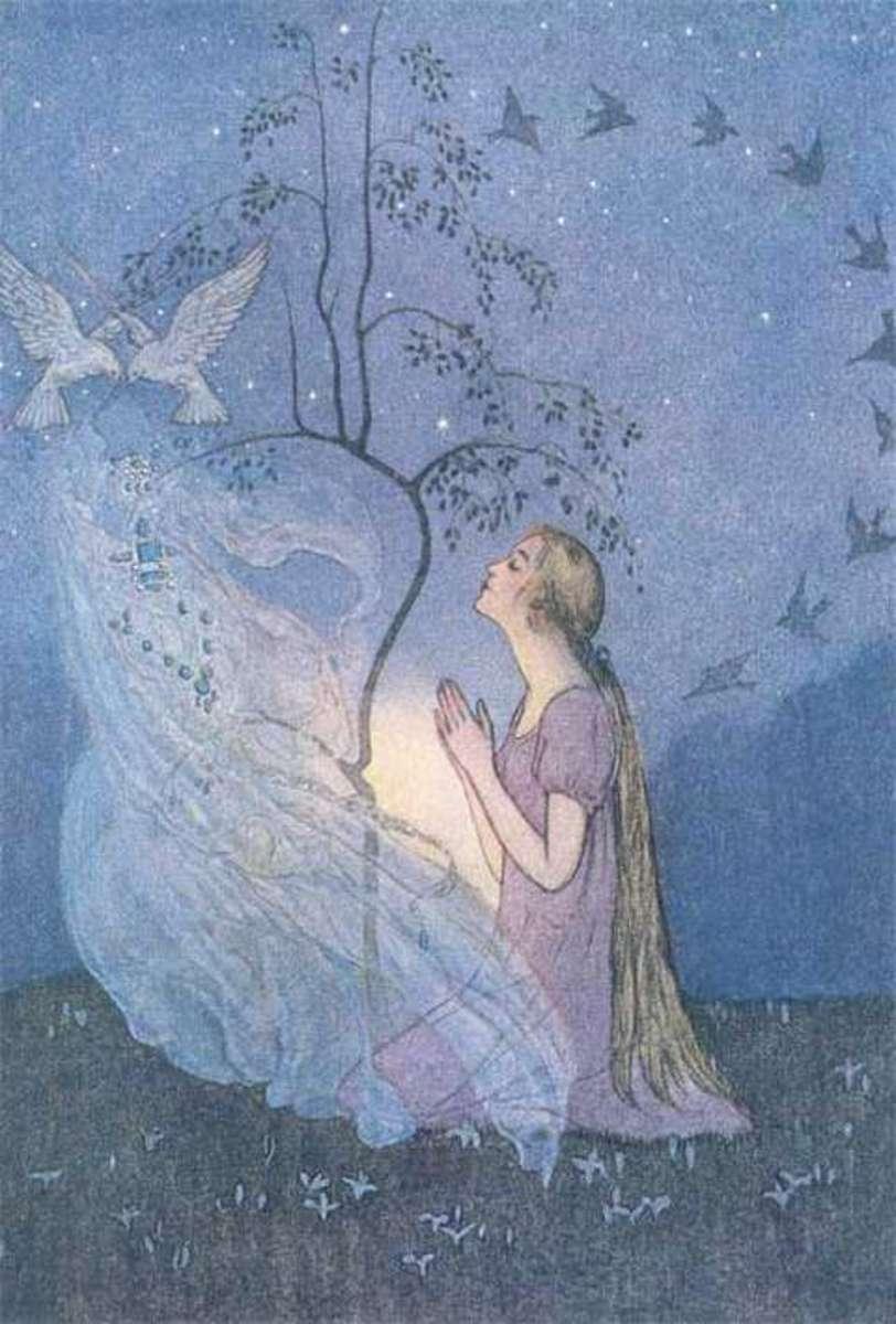 Cinderella by a magic tree - Grimms' version