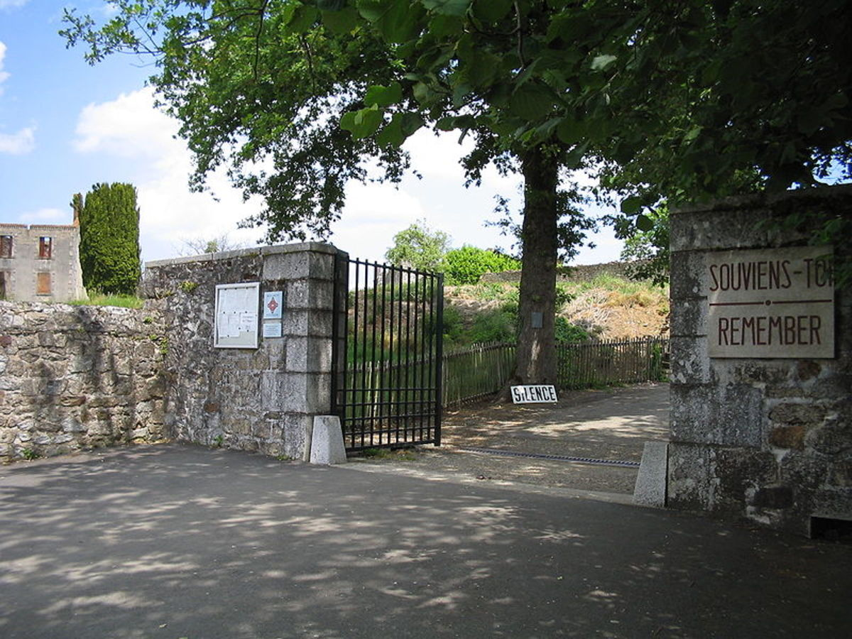 The entrance to the village of martyrs.