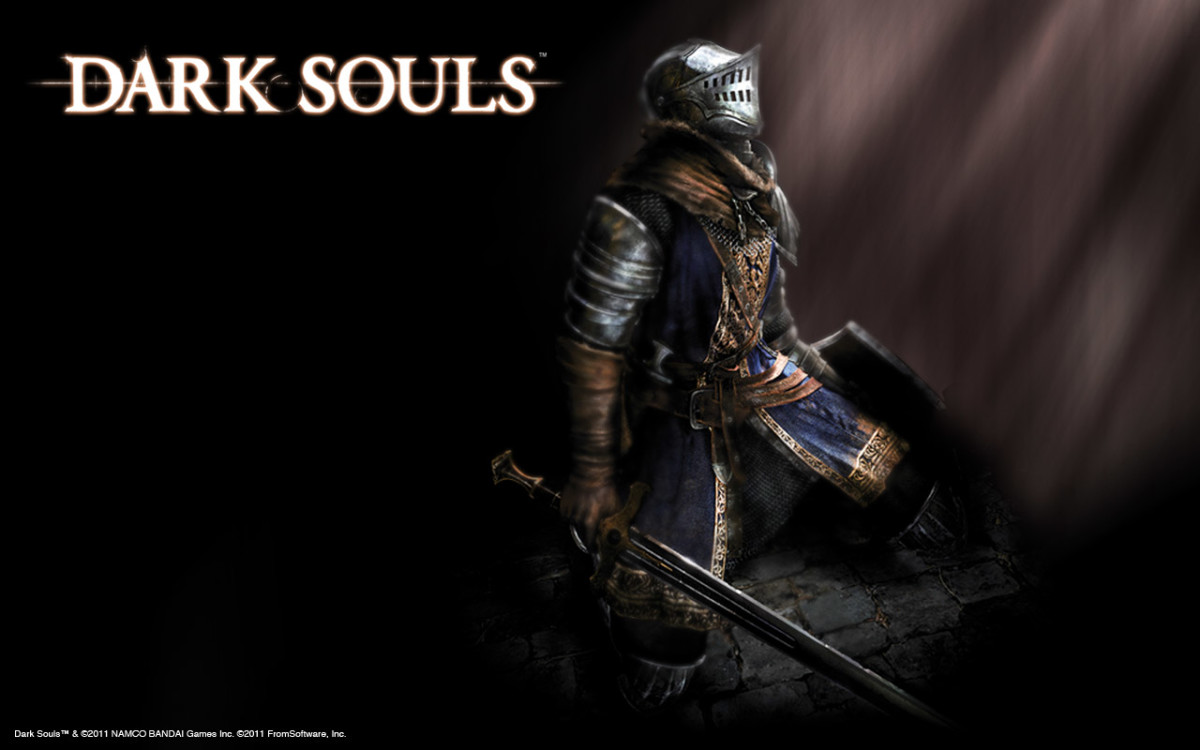 The Chosen Undead as seen in official art for Dark Souls.