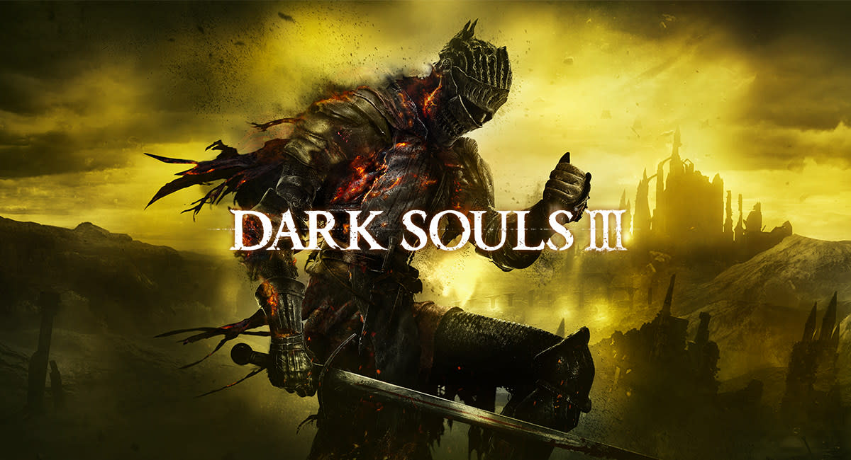 Dark Souls 3 promotional image featuring the Red Knight.
