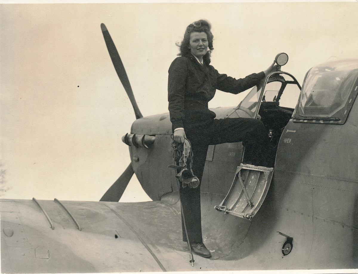 Mary Guthrie with another Spitfire