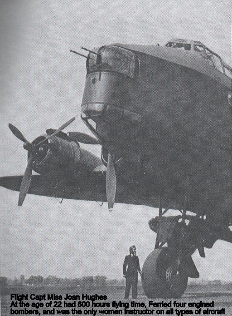Joan Hughes having delivered a Short Stirling bomber