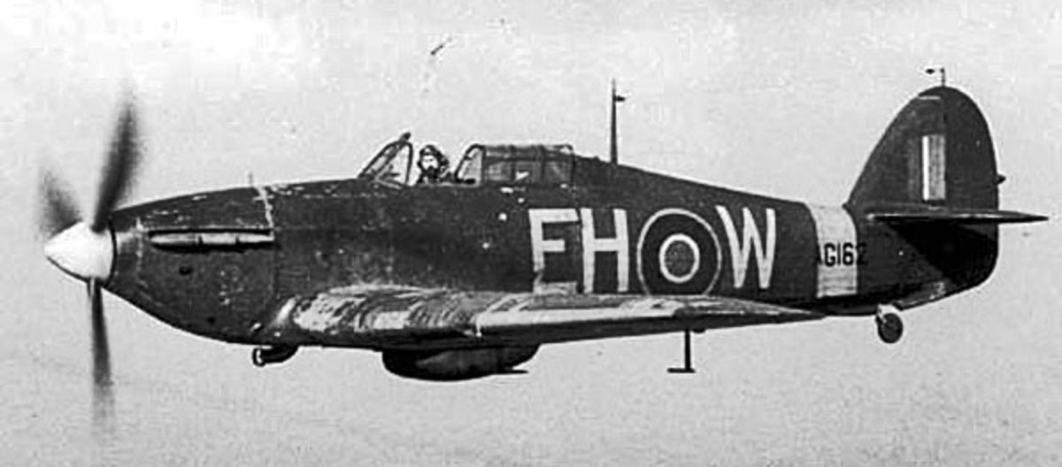 Hurricane being delivered by ATA pilot 1942