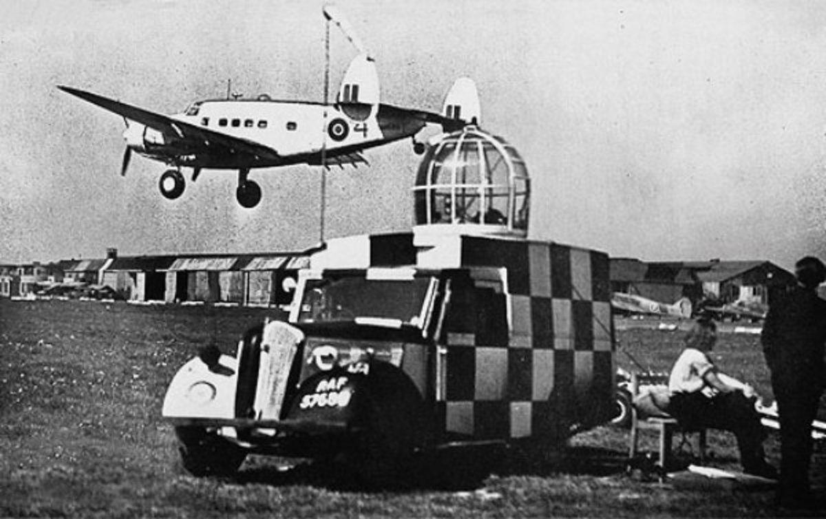 Woman ATA training at White Waltham using a Lockheed Hudson
