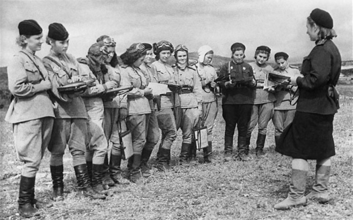 ATA women were not allowed to engage in combat but these Russian women (Night Witches) were given outdated aircraft but were  feared by the Germans as a force to be reckoned with.
