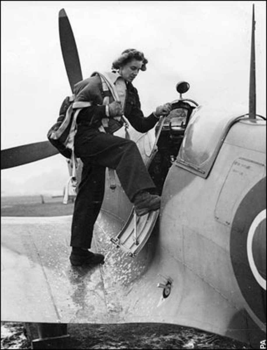 Women ferry pilots ATA 1940-1945 Little Tiger Moth biplane to massive Stirling Bomber. Anything to anywhere.