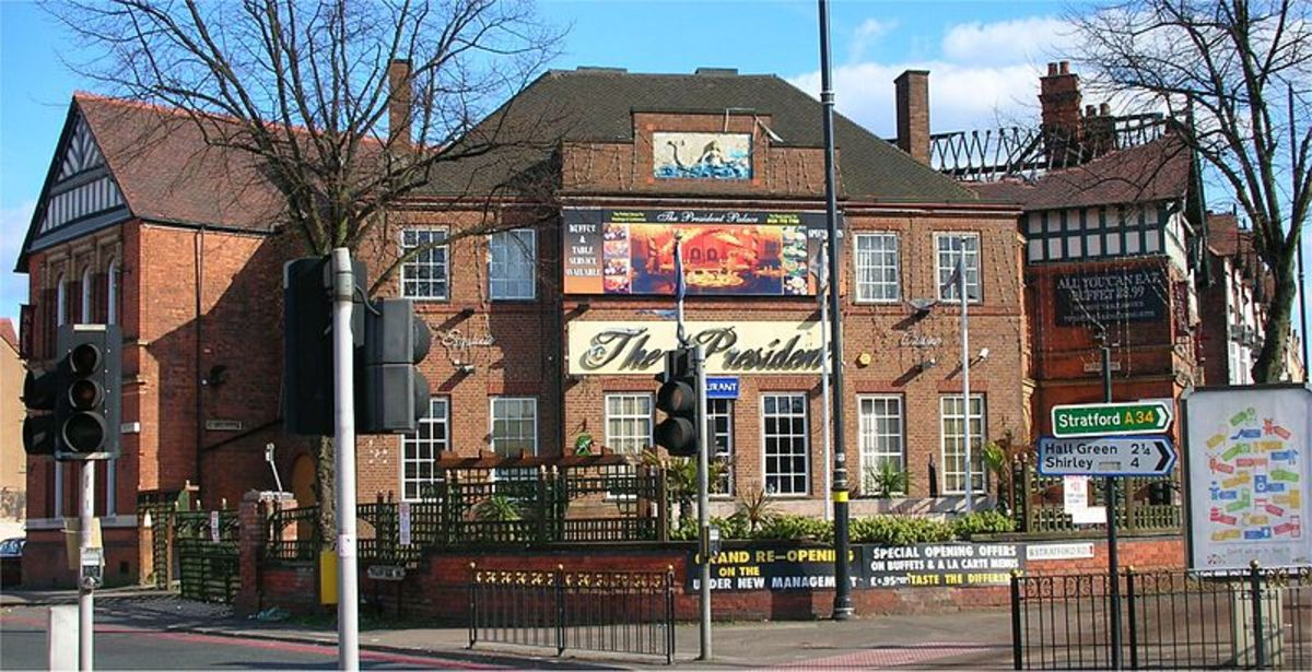 The Mermaid Pub, Sparkhill, the spot where the Warwick and Stratford Roads meet, and possible sight of the defensive barricade.
