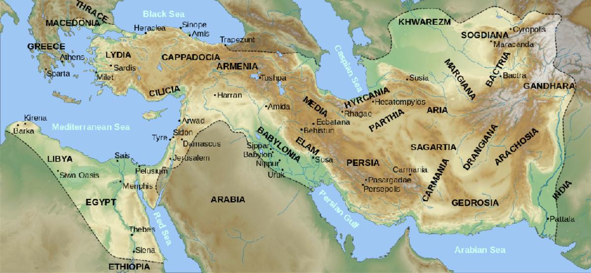 The Achaemenid Empire of Darius I of Persia