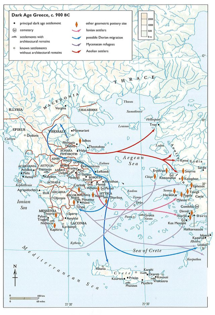 Dark Ages of Greece Map