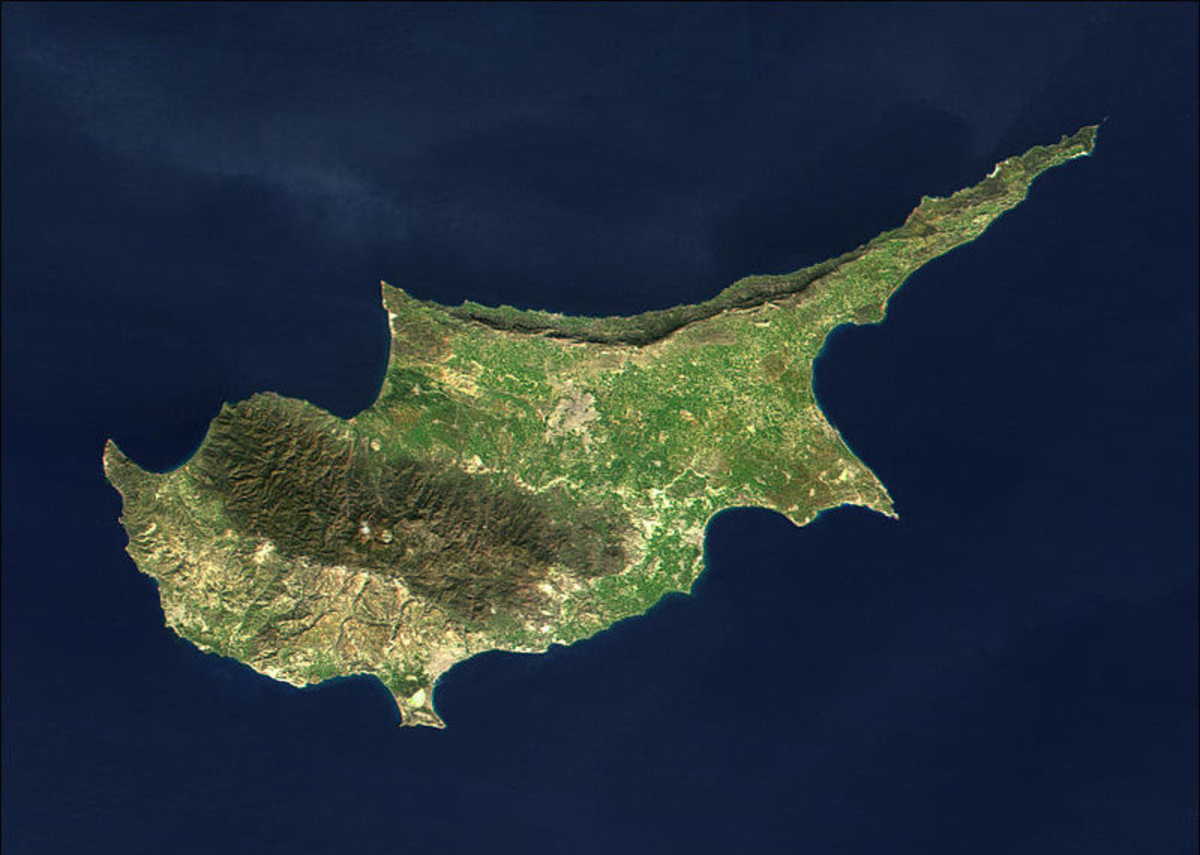 The island of Cyprus
