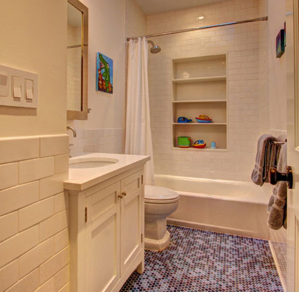 Shower Storage   Click Pic for 42 DIY Bathroom Organization Ideas