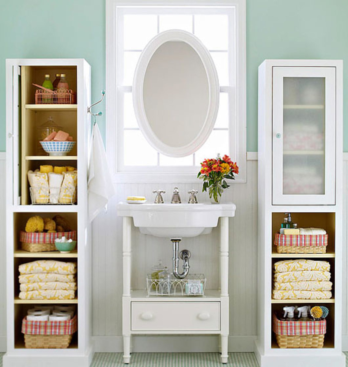 Bookcases for Toiletries | Click Pic for 42 DIY Bathroom Organization Ideas