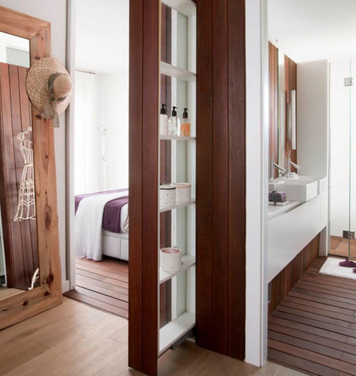Sliding Shelves   Click Pic for 42 DIY Bathroom Organization Ideas