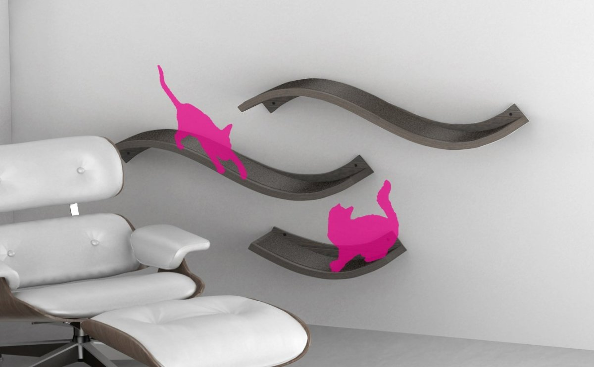 Urban Pet Haus Wave Wall Lounger and Scratcher for Cats