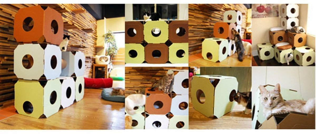Versatile Catty Stacks Cat Houses