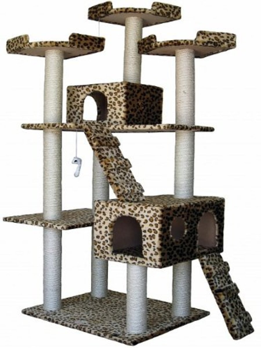 Leopard Duplex Cat Tree