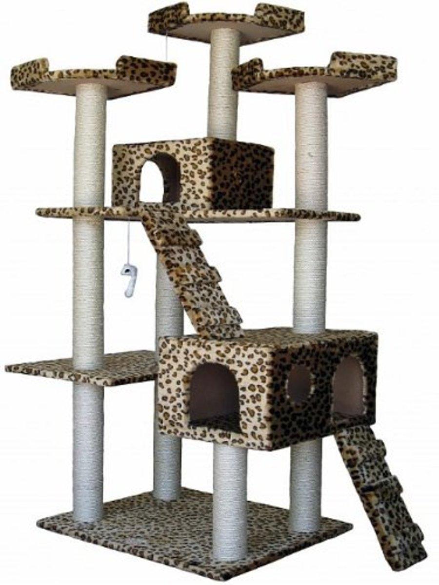 Leopard Duplex Cat Tree