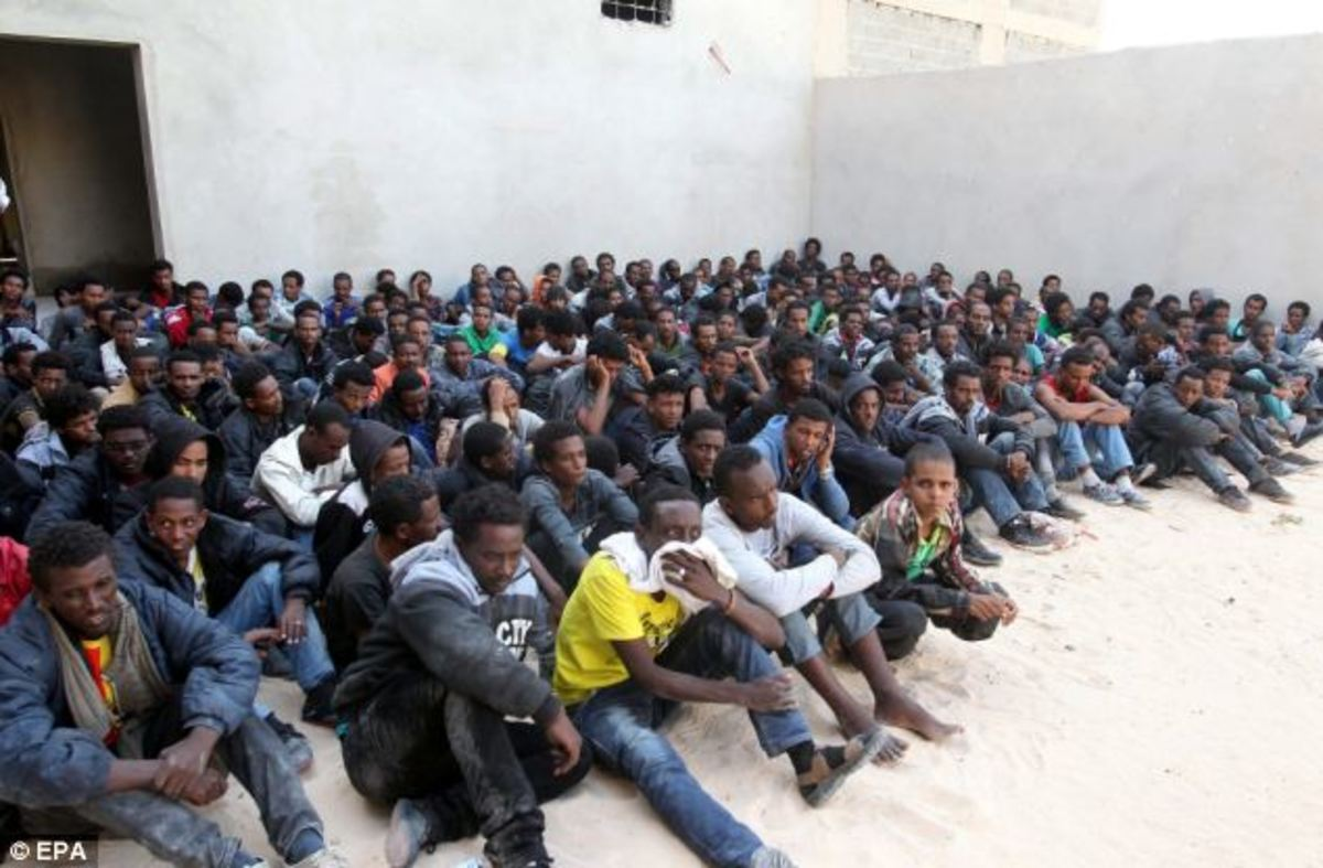 One lot of illegal migrant, collected from the Mediterranean Sea from the Italian navy, They should thank the Italian people and their government for being still alive