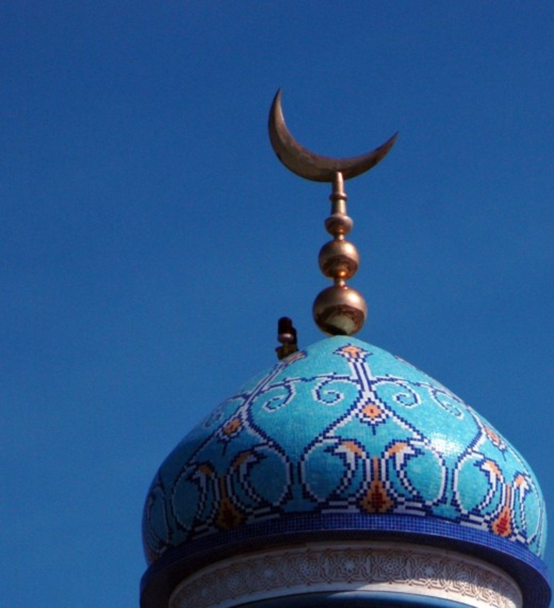 The mosque is the place of worship for the Muslim people, they are peaceful pretty places for the people to pray to their God Allah.