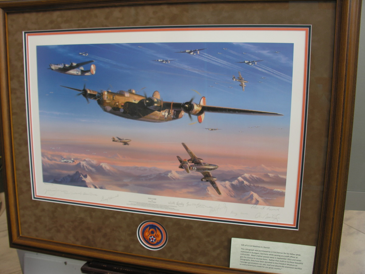 Photo of a painting on display at The Freedom Museum, Manassas Airport.  Photo taken May 9, 2015.