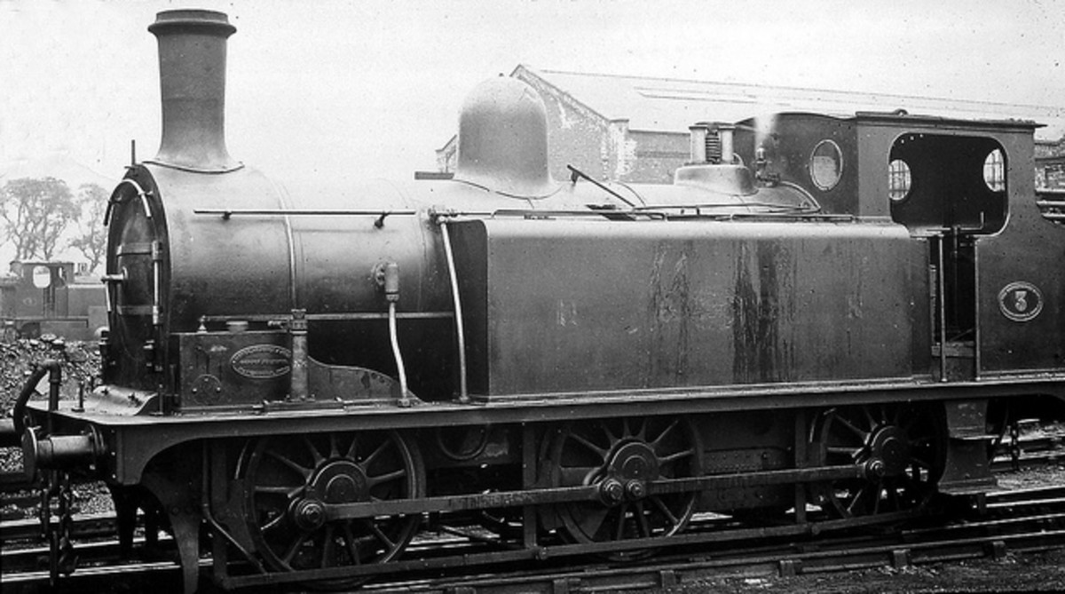 H&BR Kirtley 0-6-0 tank locomotive at Springhead Shed
