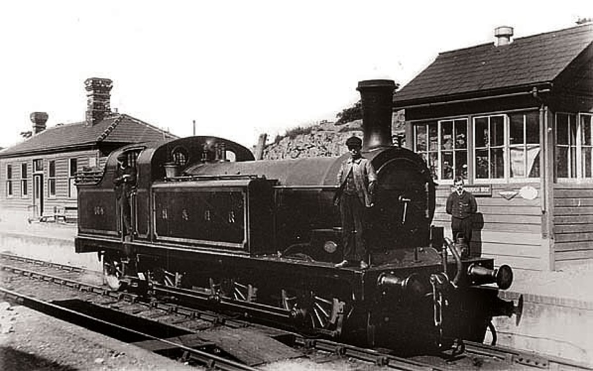 One of the long-wheelbase H&BR 0-6-2 shunters built by M. Stirling