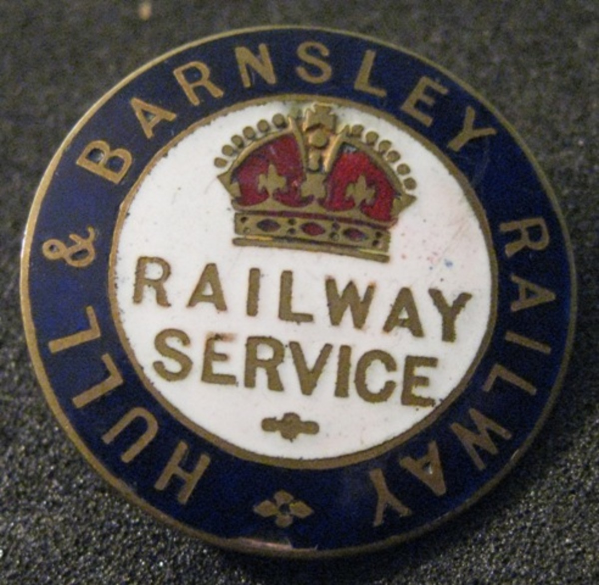 Hull & Barnsley Railway railway service button  - the company's original name was the Hull, Barnsley & West Riding Junction Railway
