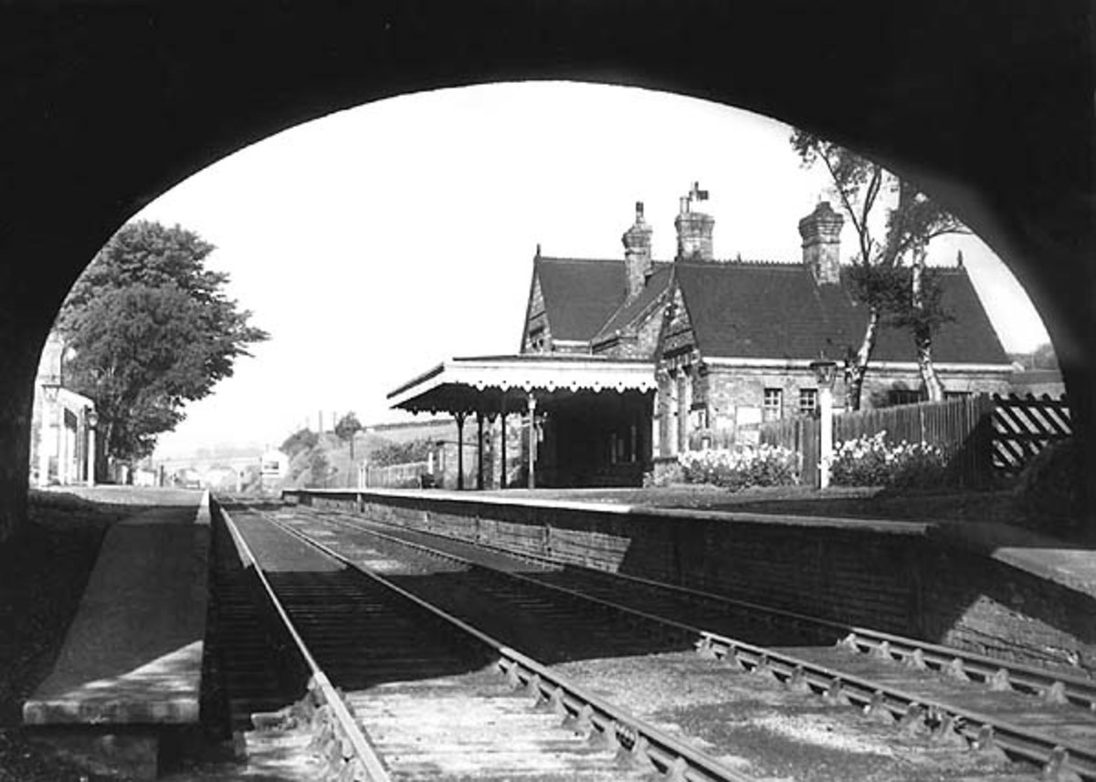 Little Weighton station in 1954 shortly before closure. With the cessation of coal traffic, income for the branch dropped. Passenger traffic did not pay its way