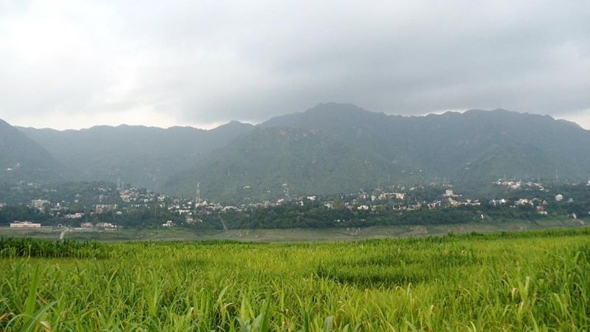 Panaromic view of Bilaspur city of Bilaspur District Himachal Pradesh,India