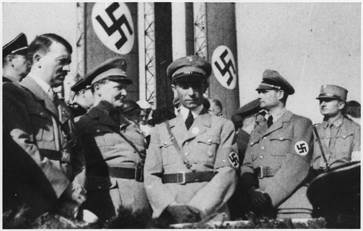 Nazi Hierarchy: Hitler, Goering, Goebbels, Hess