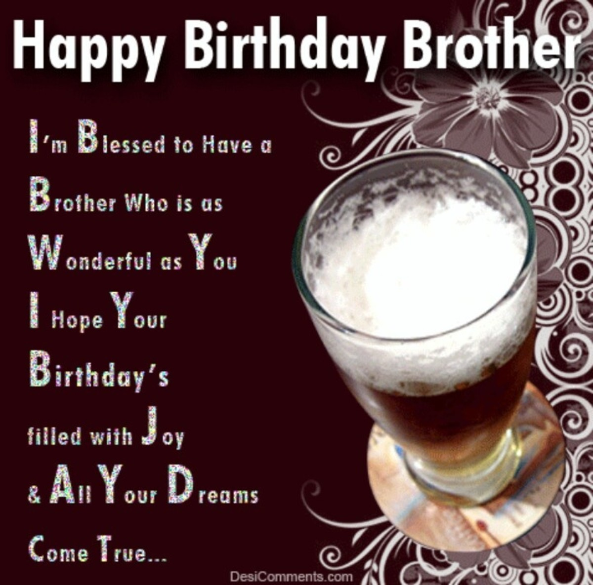 Funny Birthday Sayings To Brother : Birthday wishes cards and quotes for your brother
