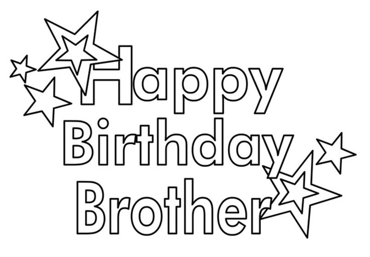 Birthday wishes cards and quotes for your brother hubpages for Happy birthday coloring pages for sister