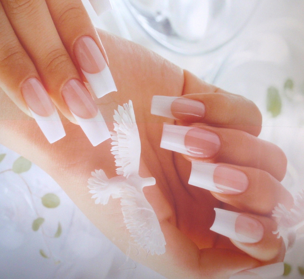 Perfect French Manicure With Gel Or Cnd Shellac Nail