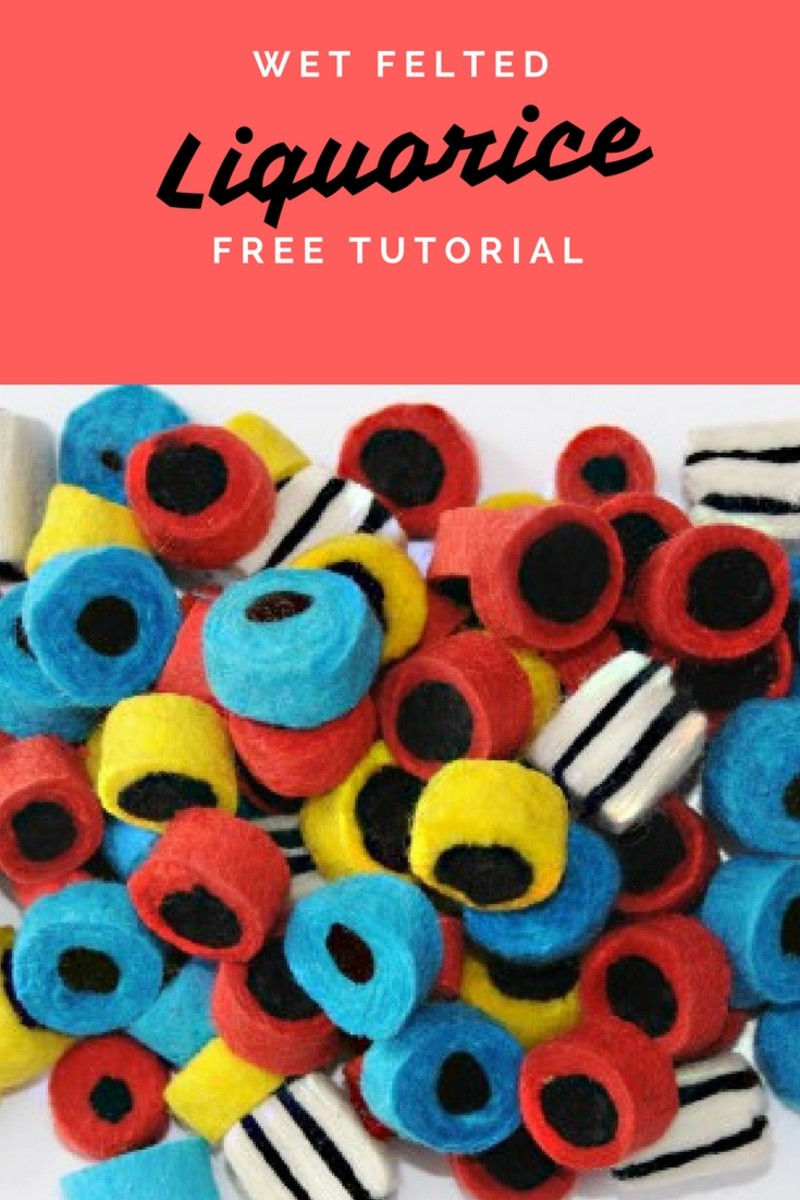 How to Make Wet Felted Beads for Threading on a Necklace.