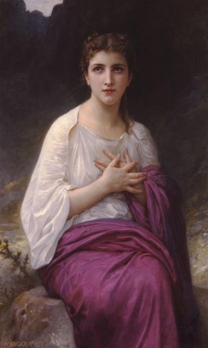 Psyche by William Bouguereau, 1892.