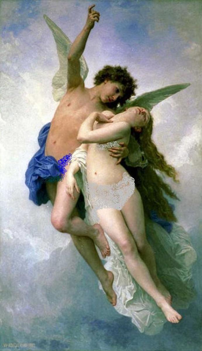 Psyche et L'Amour (1889) by Bouguereau