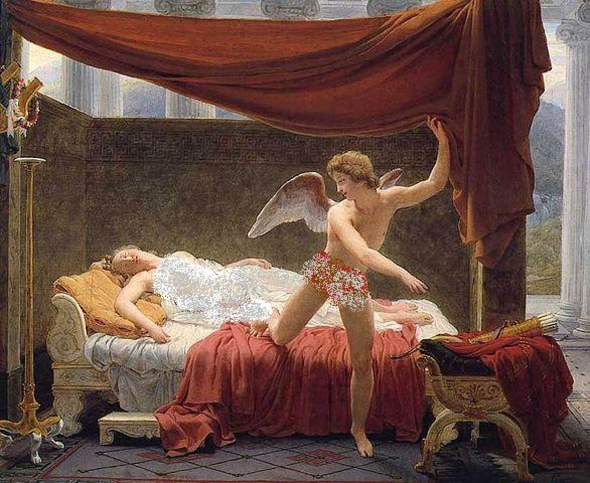 Psyche and Eros - Eros is in Love