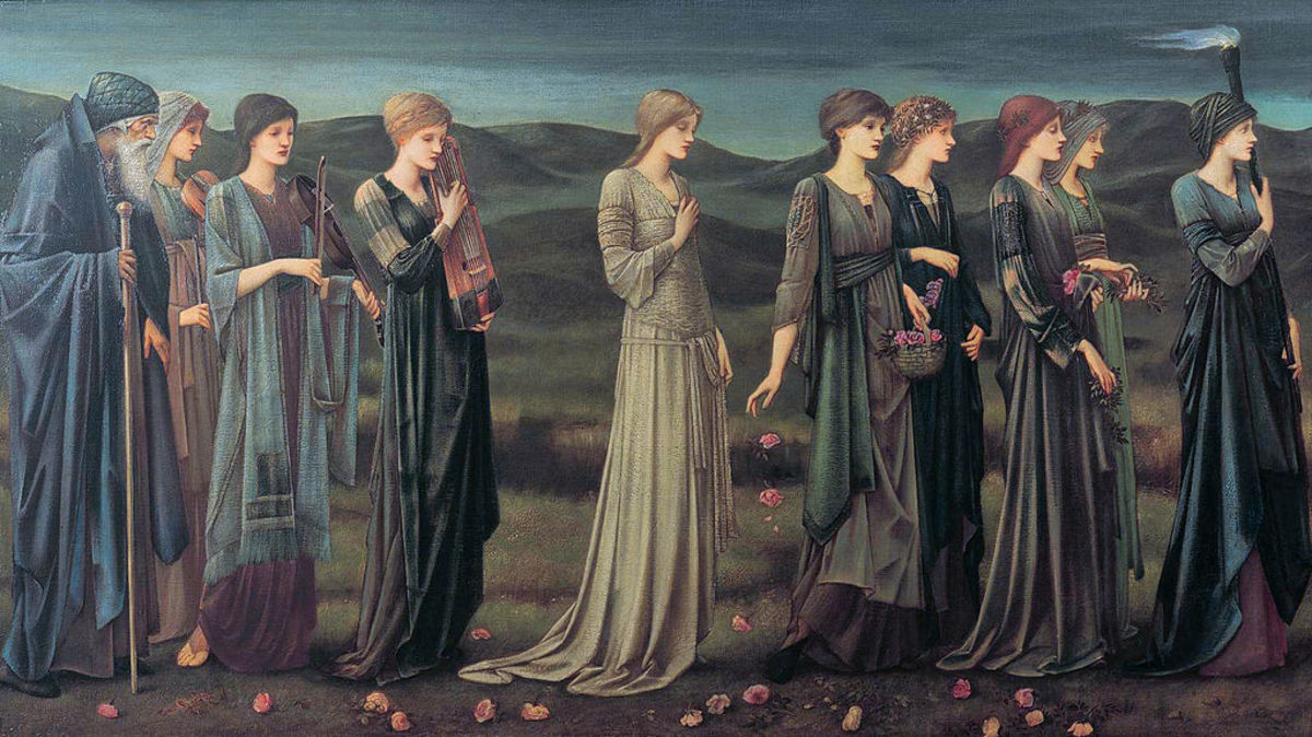 Psyche's Wedding by Edward Burne-Jones, 1895